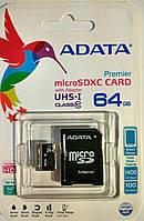 Карта памяти микро SDXC Adata 64 гб класс 10 UHS-1