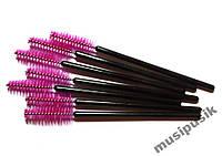 Щеточка для ресниц и бровей розовая