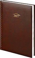 Ежедневник датированный 2017, А5, бордовый, обложка Grafo, Brunnen