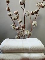 Махровое полотенце 70 140 см белое 550 г/м2