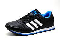 Кроссовки Adidas, мужские, черные с белым, фото 1
