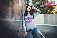 Мужской свитшот толстовка утепленный Liberty - Houston Rockets, Grey