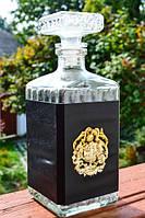 Шикарная коллекционная бутылка,графин,штоф! Герб!