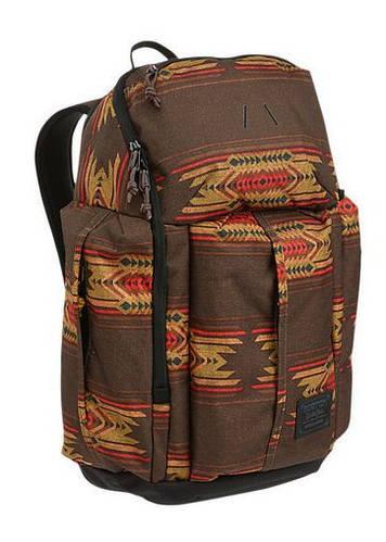 Женский городской рюкзак с отделениями для гаджетов BURTON CADET PACK (SIERRA PRINT) 9009519755426 коричневый