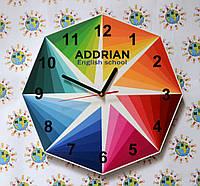 Часы настенные с логотипом своей фирмы Нестандартные