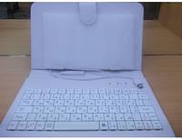 Чехол-клавиатура для планшета 7 mini USB белый