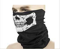 Лыжная, вело бафф-маска террорка бандама с черепом