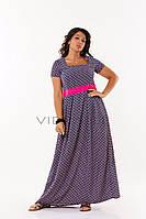 Летнее платье-макси из креп-шифона (в расцветках)