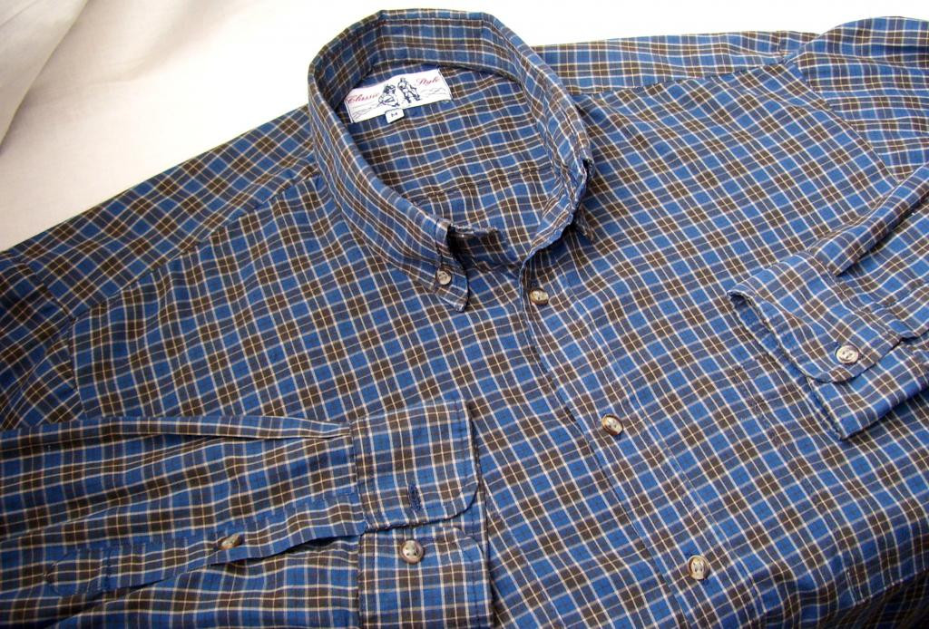 Клетчастая рубашка размер M (65%-котон,полиэстер)