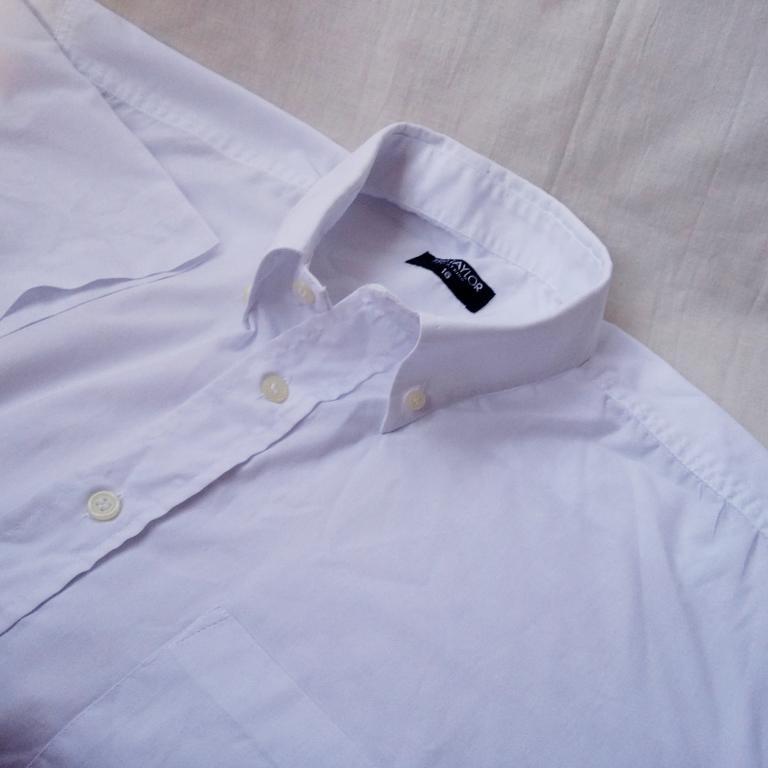 Летняя белая рубашка TED TEYLOR London котон 41