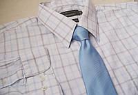Деловая светлая клетчатая рубашка ARMANDOрХXL в.43