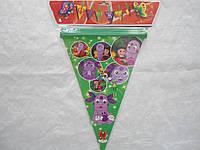Праздничная гирлянда из флажков в детскую комнату