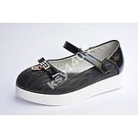 Нарядные черные туфли для девочек 28 и 29р