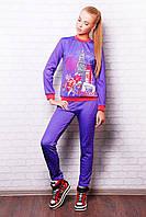 Костюм спортивный женский фиолетовый 44,46,48
