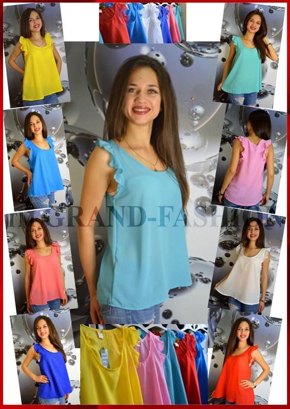 Лёгкая летняя блузка ~Krepp~ 9 ЦВЕТОВ !!!