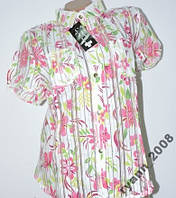 Рубашка женская короткий рукав. на лето