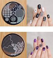 Диск для стемпинга, серия hehe, печать на ногтях