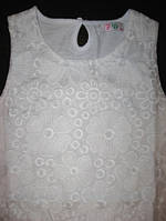 Нарядное белое платье для девочки р.122-128 (арт.9172)