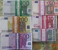 Сувенирные деньги, пачка сувенірні гроші евро євро