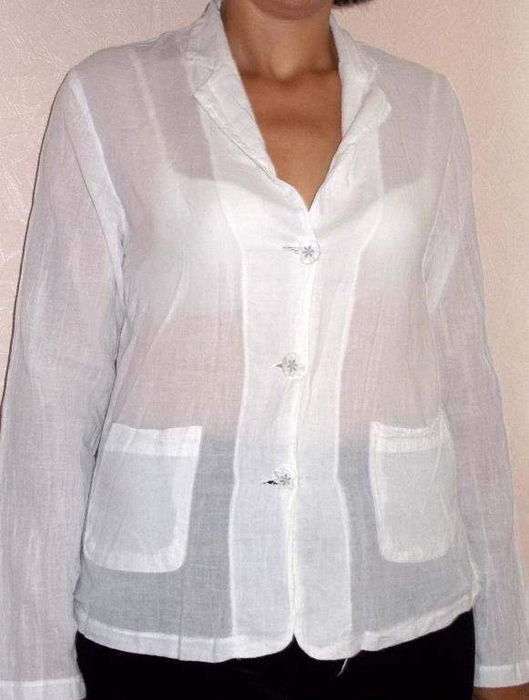 Пиджак-блузка хлопок