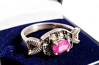 Очаровательное изысканное кольцо! Серебро,рубин!