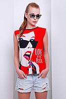 футболка GLEM Девушка в очках футболка Киви б/р