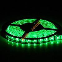 Лента светодиодная 5050 зеленая 5м 60д/м IP33