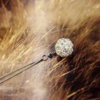 Цепочка с кулончиком в виде переплетенного шарика