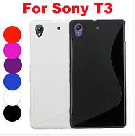 S-line TPU чехол Sony Xperia T3 D5105 D5102 D5103 m50w