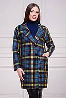 Пальто кашемировое женское в клеточку классическое 42,44,46,48