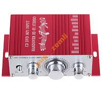 Усилитель звука автомобильный 12V + коннектор