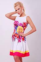 Платье Летний букет розовый Мия