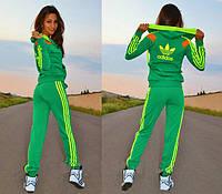 Спортивный костюм женский Adidas 2 салатовый, купить спортивный костюм