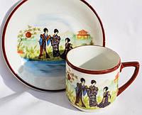 Очаровательная кофейная чашка с блюдцем! Гейши!