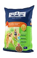 Клуб 4лапы Сухой рацион премиум класса для взрослых собак средних и крупных пород - 12 кг