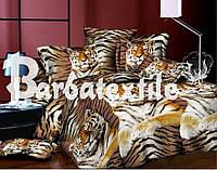 """Комплект постельного белья Евро двуспальный, п/э 3D """"Тигровое величие"""""""