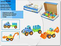Трактор инерционный 9164  2 вида, в коробке 34*24*8см