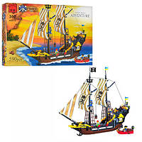"""Конструктор """"Brick """" 307 """"Пиратский корабль """" 590 деталей, в коробке 48*32*7см"""