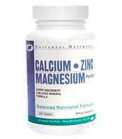 Universal Nutrition Calcium Zinc Magnesium 100 tab
