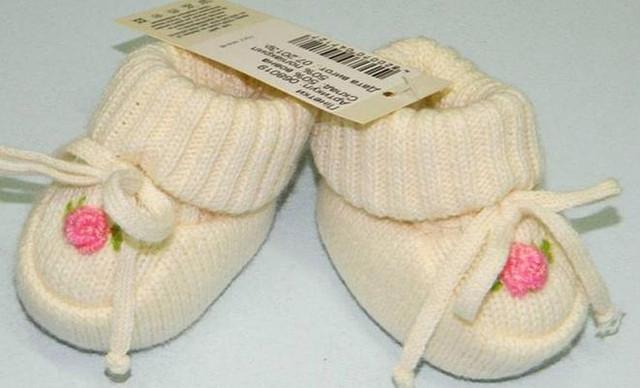 Вязание пинетки и носочки для новорожденных