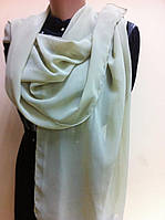 Легкий  шарф   из шифона  цвет оливковый