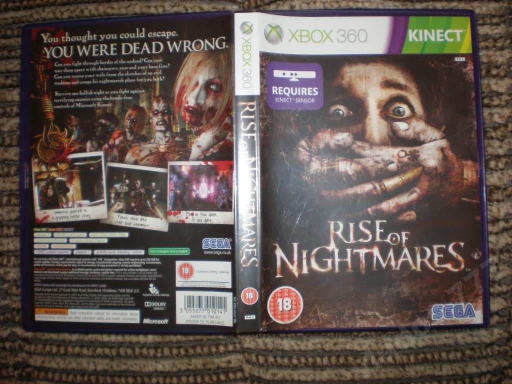 Rise of Nightmares для kinect xbox 360 лицензия