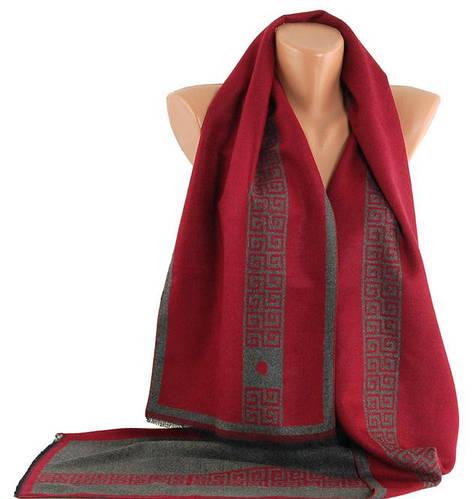 Яркий теплый мужской шарф Traum 2492-24