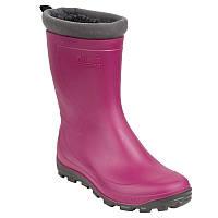 Зимние резиновые сапоги детские, чоботи гумові Solognac Glenarm розовые