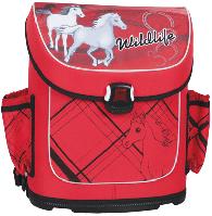 Ортопедический ранец для девочки Tiger 1816 лошадки