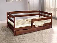 Деревянная кровать Ева с защитным бортиком