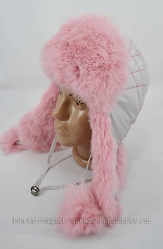 Шапка детская на девочку мех натуральный кролик