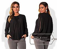 Однотонная свободная блуза. Большие размеры. Разные цвета.