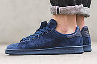 Кроссовки Adidas Stan Smith suede navy р.41-45