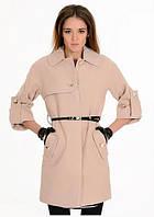 Кашемировое пальто с потайной застежкой и планкой на груди, фиксируемой пуговицей